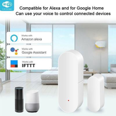 Tuya Smart WiFi Door Sensor Door Open//Closed Detectors Wifi Home Alarm Compatible With Alexa Google Home Tuya APP