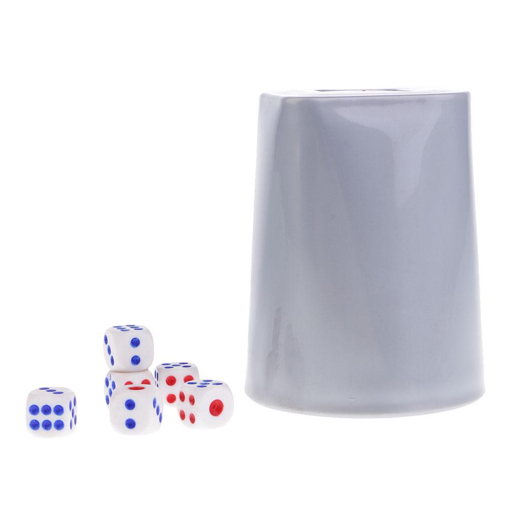 Bar//Pub//KTV //Party// Dice Guessing Game Toy 4 inch Dice Cup with 6 Dice