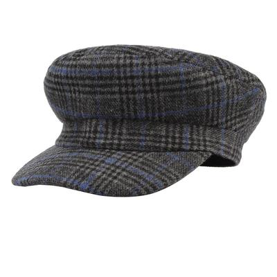 571e4987acb4f8 Vintage Plaid Wool Newsboy Cap Women Men Autumn Winter Beret Military Hat
