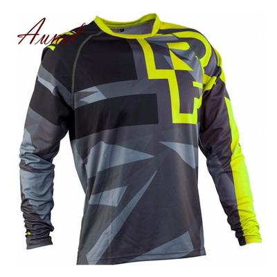 Outdoor Motorcycle Motocross MTB Bike Cycling Jersey Unisex Long Sleeve T- Shirt 3a5ffd96c