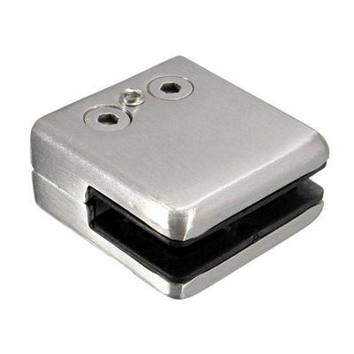 4Pcs Stainless Steel Square Clamp Holder Bracket Clip for Glass Shelf Handrails-Small