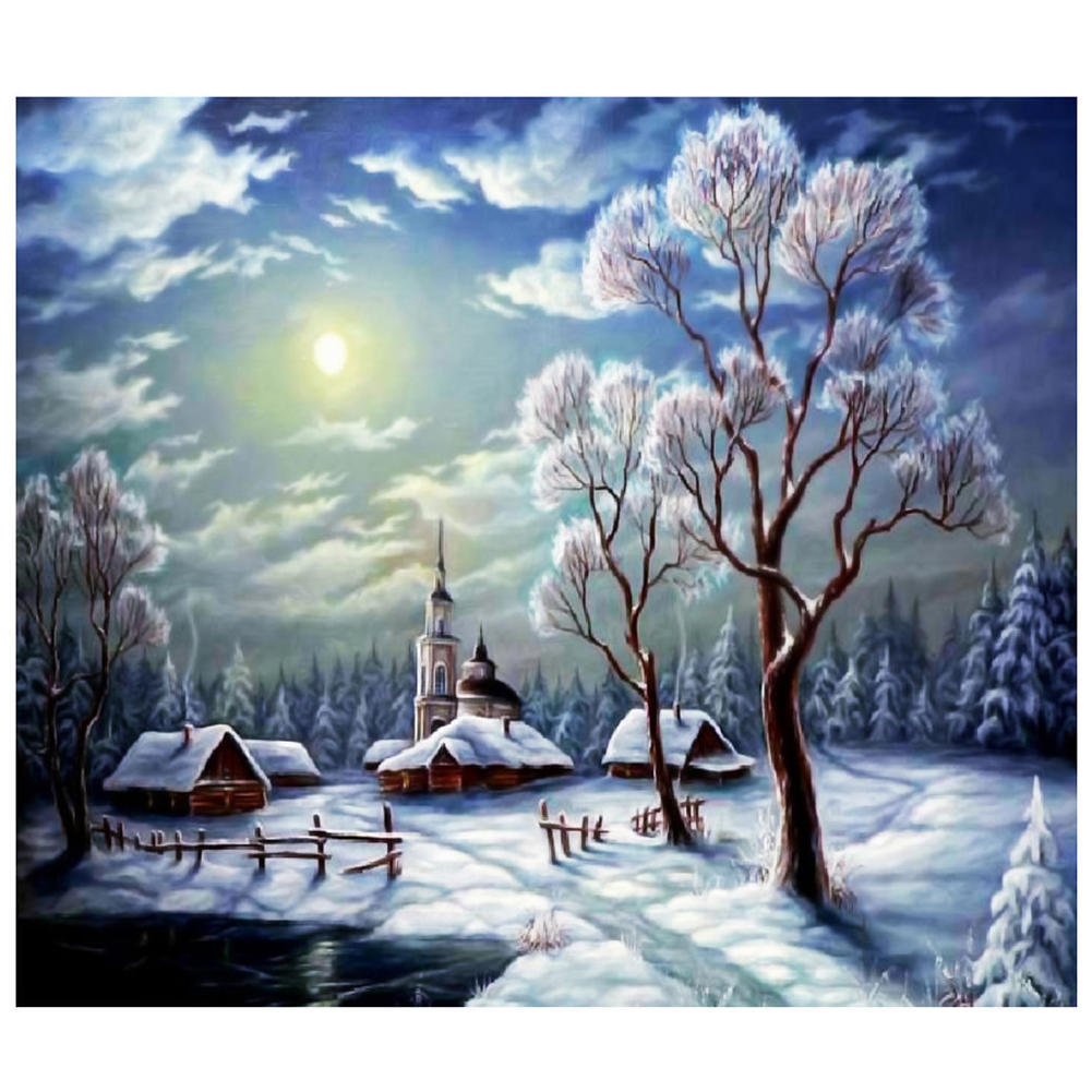 Arts,crafts & Sewing Needle Arts & Crafts Diamond Embroidery Landscape 5d Diy Diamond Painting Cross Stitch Full Round Rhinestone Mosaic Painting Home Decor Snow Lake