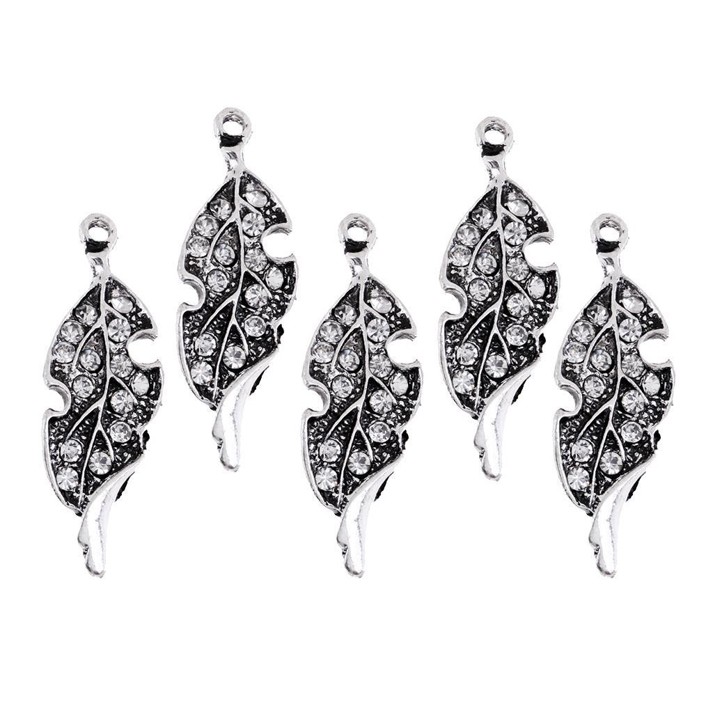 Jewellery Making Antiqued Silver 19 x 10mm Tibetan Style Leaf Pendant x30