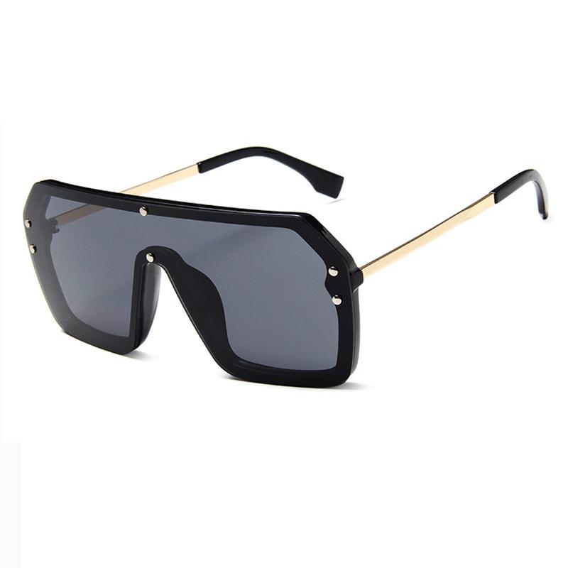 Cool Square Driving Big Sunglasses for Men Outdoor UV400 Sun Glasses Metal Frame