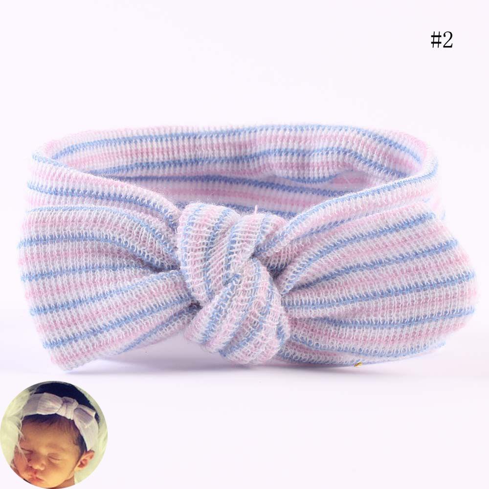 0~6 Months Turban Infant Hairbands Hospital Headbands Newborn Baby Bowknot