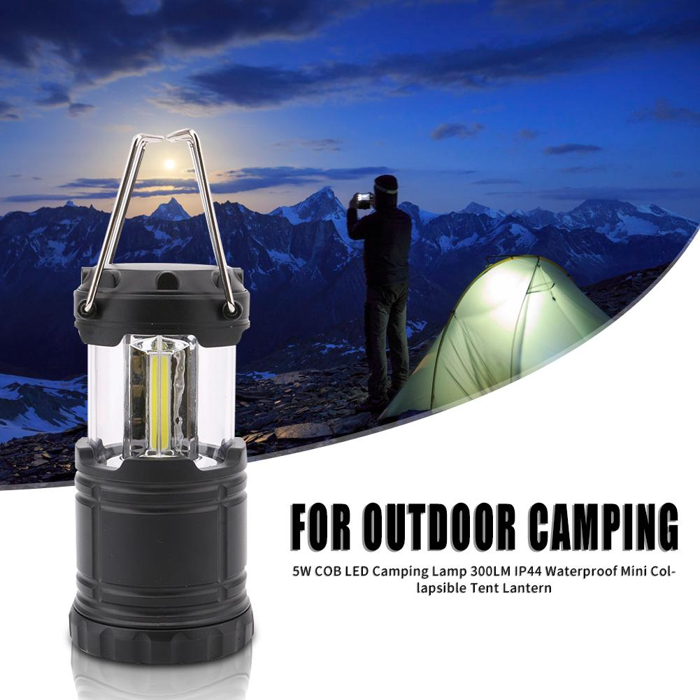 COB LED Camping Lamp Portable Collapsible Tent Lantern Light for Outdoor Travel