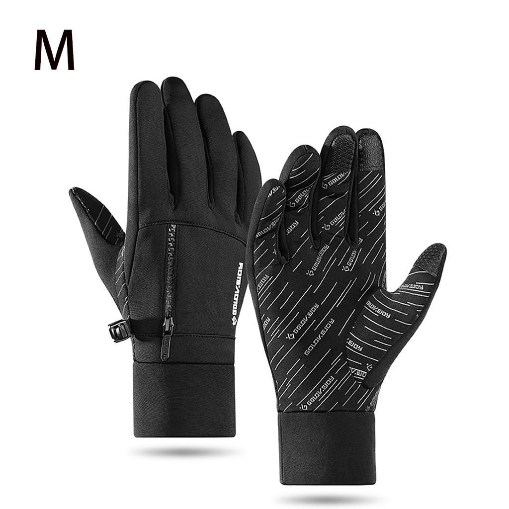 Cycling Gloves Waterproof Touchscreen in Winter Outdoor Bike Gloves M