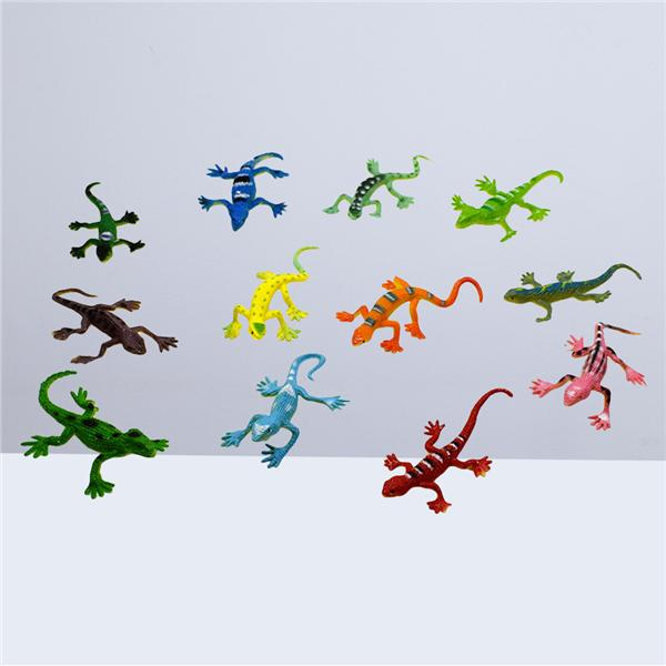 10 Pieces Lifelike Gecko Model Figure Halloween Joke Prop Play Toys 8x3cm