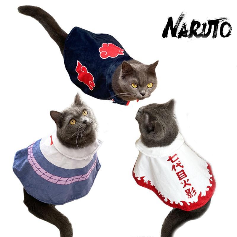 Cute Anime Uzumaki Naruto0 Cosplay Mini Dog Cat Cloak Clothes Pet Costume Ninja