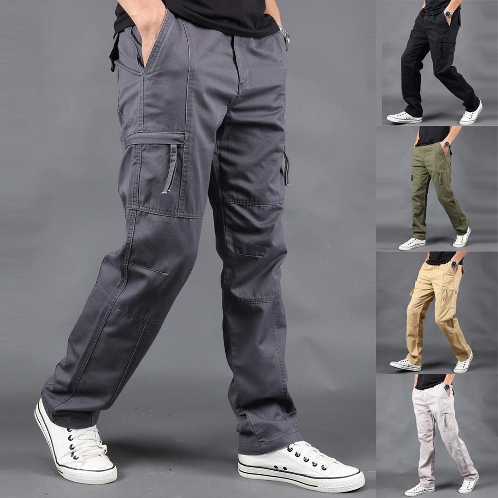 Летние мужчины Новый стиль Открытый Многокарманный Общие прямые спортивные штаны – купить по низким ценам в интернет-магазине Joom