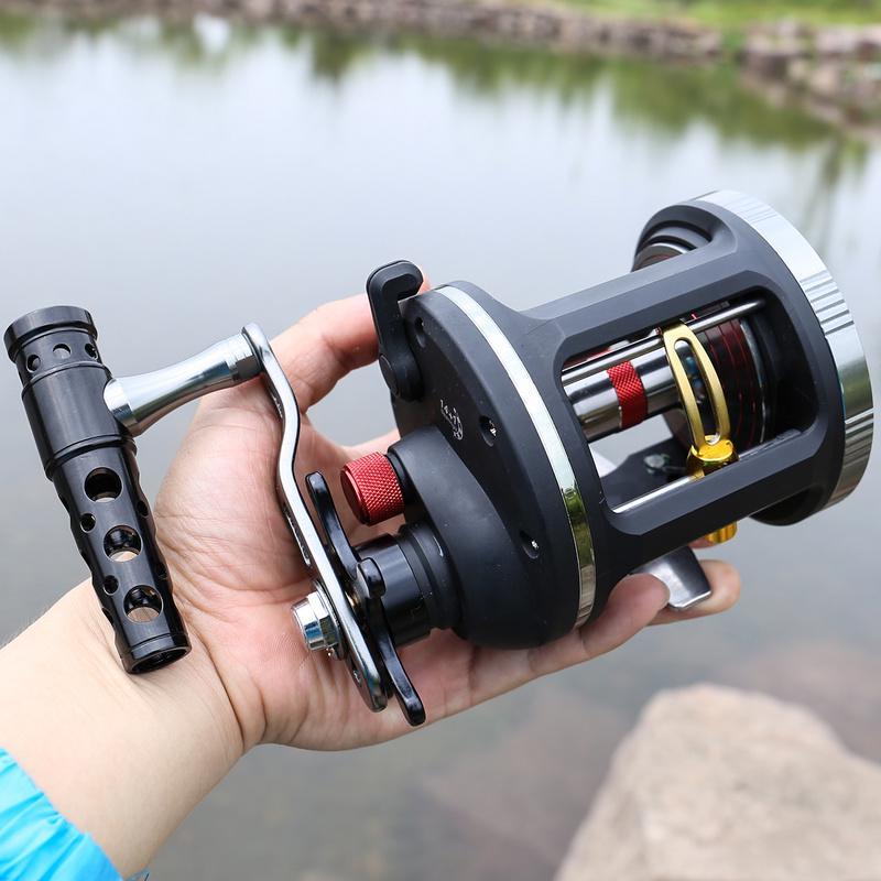 Trolling Fishing Reel Black Saltwater Right Hand Sea Bait Casting Fishing Reels
