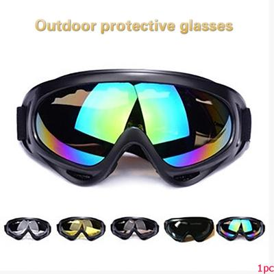 Safety Goggles Leshp Outdoor Skiing Protective Goggles Bendable Windproof Ski Cycling Glasses Fog-proof Skiing Goggles With Elastic Headband Workplace Safety Supplies