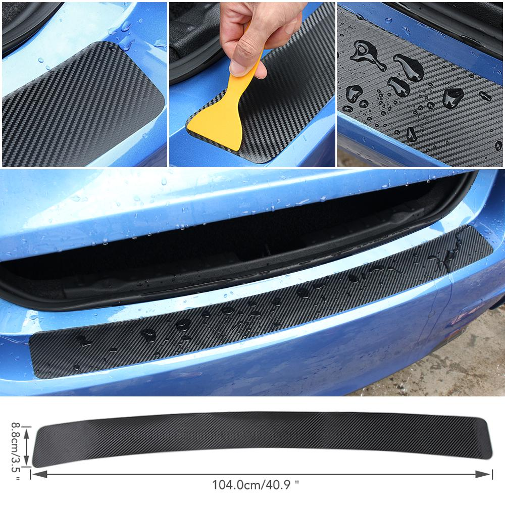 1 m 5D Carbon Fiber Auto Car Rear Trunk Tail Lip Protect Decal Sticker Styling