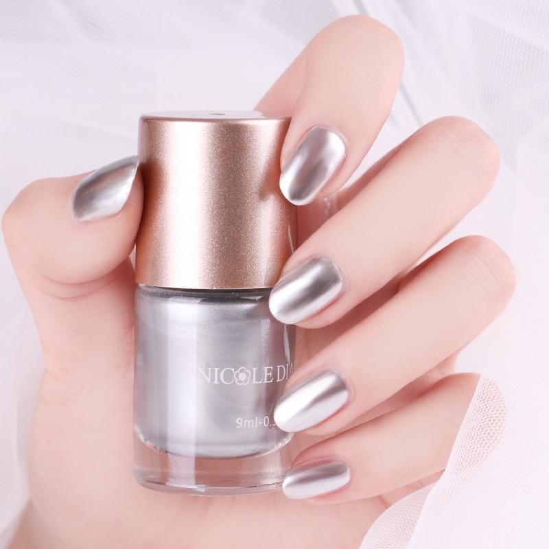 1 frasco diario de NICOLE esmalte de uñas metálico espejo efecto ...