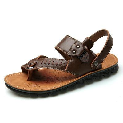 051390850 Fashion Summer Men s Casual Leather Sandals Shoe Beach Shoes Shoes  Breathable Slippers