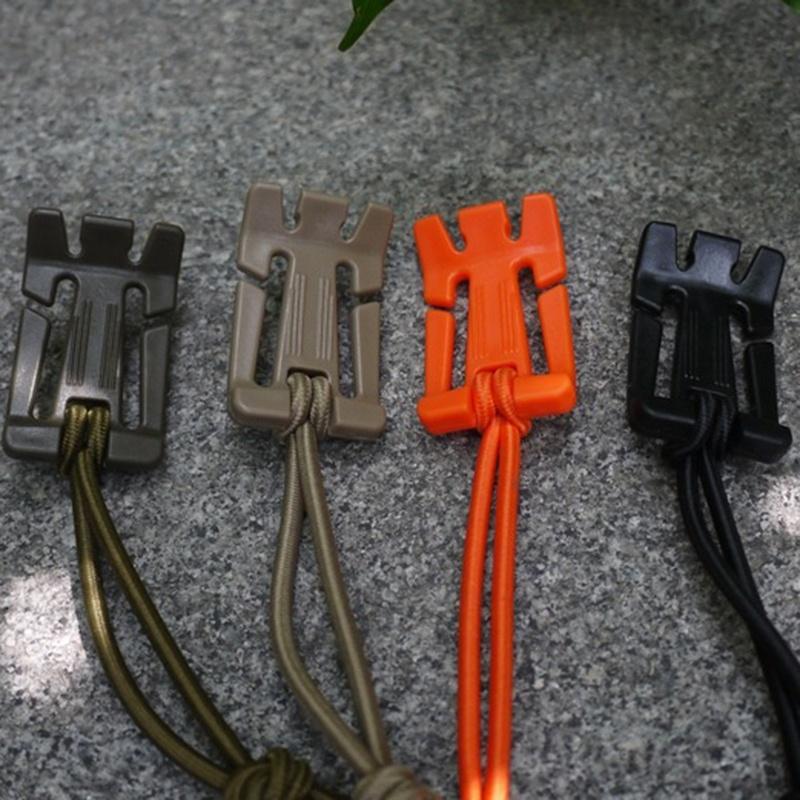5pcs Black Bungee Cord Elastic Tie Down Straps Hook Buckle Outdoor Backpack