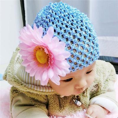 1 Stk Baby Mädchen Daisy Blume Hut Winter warme Kappe häkeln Beanie ...