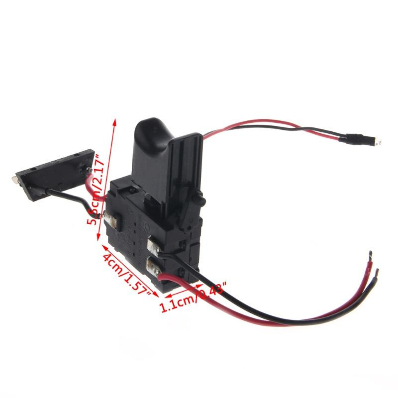 DC 7.2-24V Electric Drill Dustproof Speed Control Push Button Trigger Switch Hj