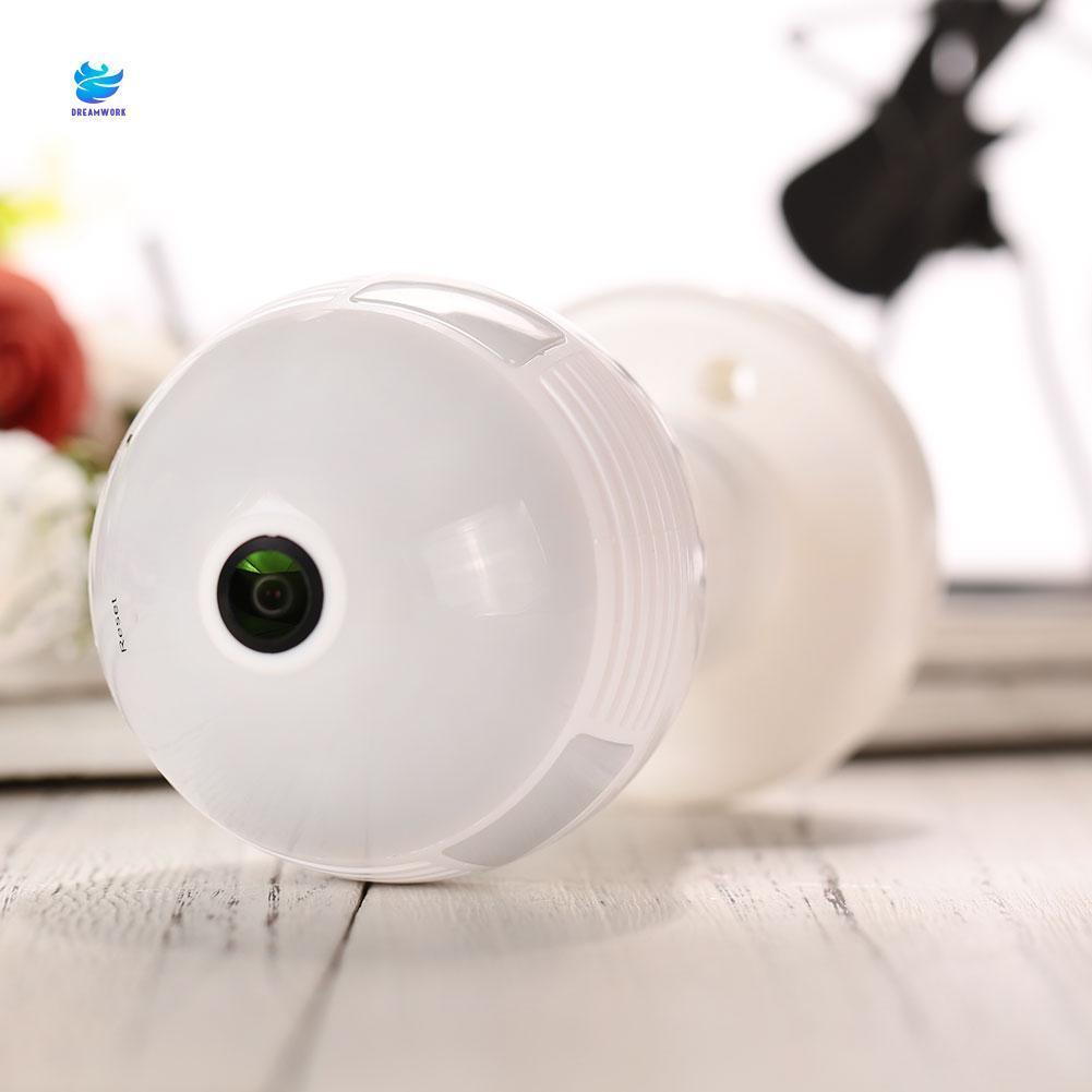Wifi camera light bulb 360 degree panoramic spy security hidden vr-v380-v9-a
