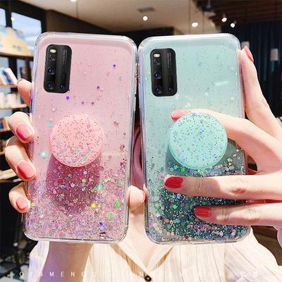Glitter Bling Case For Vivo Y19 2019 Y17 Y12 Y15 Y3 Cover Soft TPU Case IQOO NEO Nex 3 Phone Holder