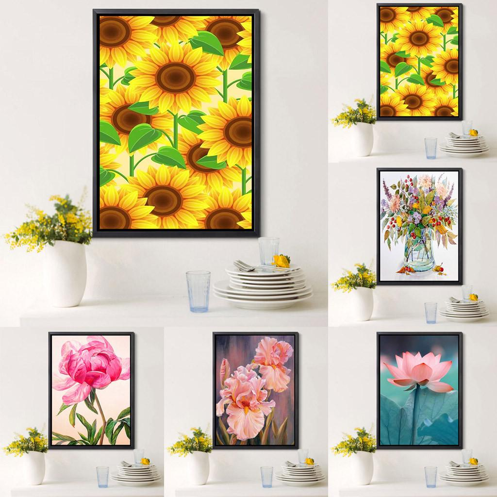 5D Pink Rose Flower Half Bead Embroidery Painting Cross Stitch Home Decor Craft