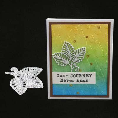 11Pcs Flower leaves Metal Cutting Die For DIY Scrapbooking Album Paper Cards MW