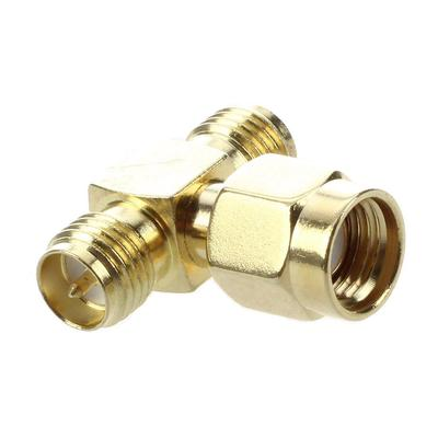 1pce N male plug to two N female jack triple T in series adapter connector 3 way