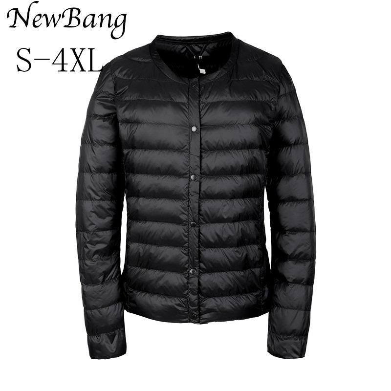 NewBang Portable abajo chaqueta mujeres cortavientos Ultra delgado delgado  Collar menos plumas chaquetas luz cálida - comprar a precios bajos en la  tienda ... 86586641c255