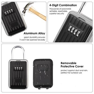 Pack de 2-Boîte Postale Key Lock Box Pour Agent immobilier à 4 chiffres