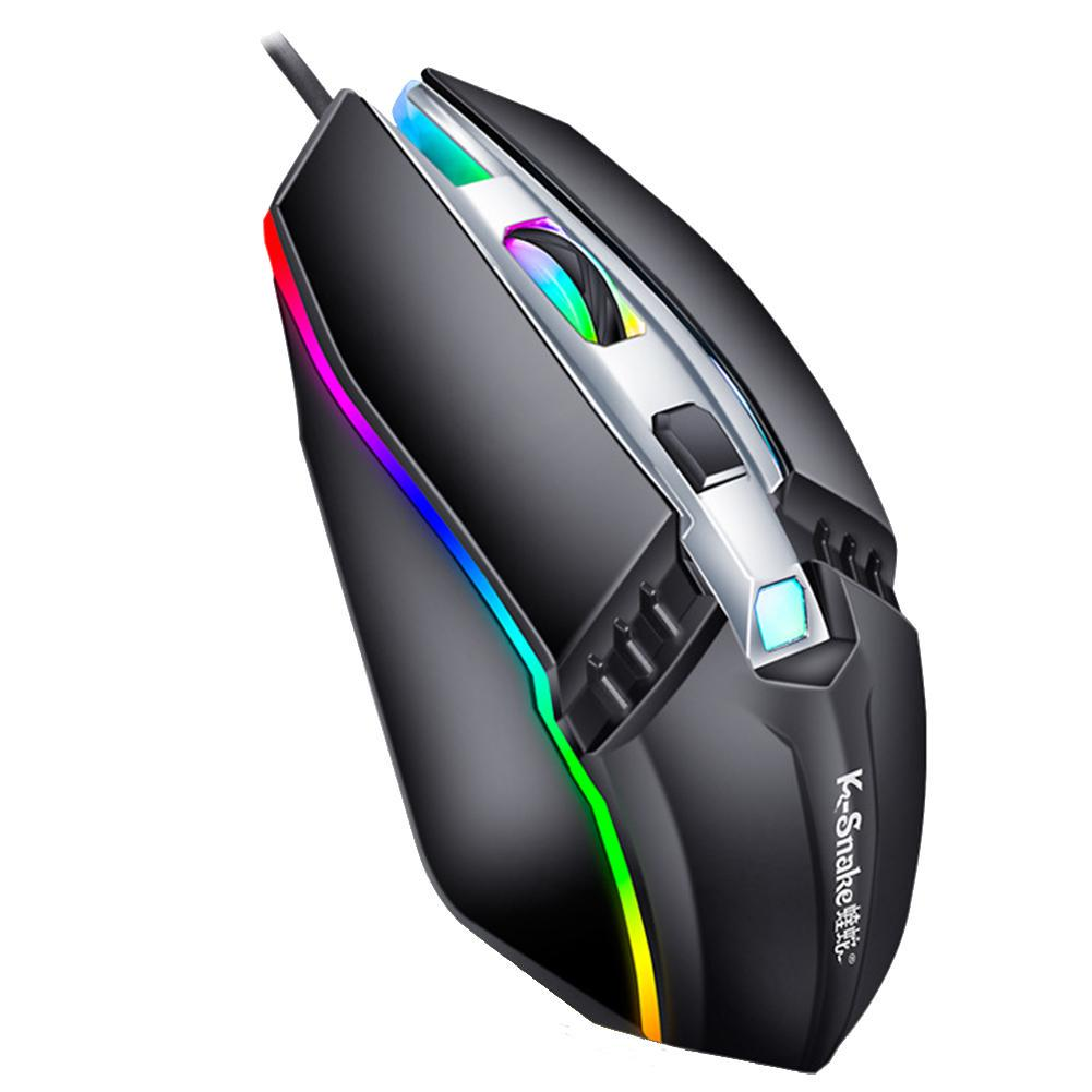 2400DPI 4D 7 Color USB Wired Optical Pro Gaming Game Mice Mouse For PC Laptop