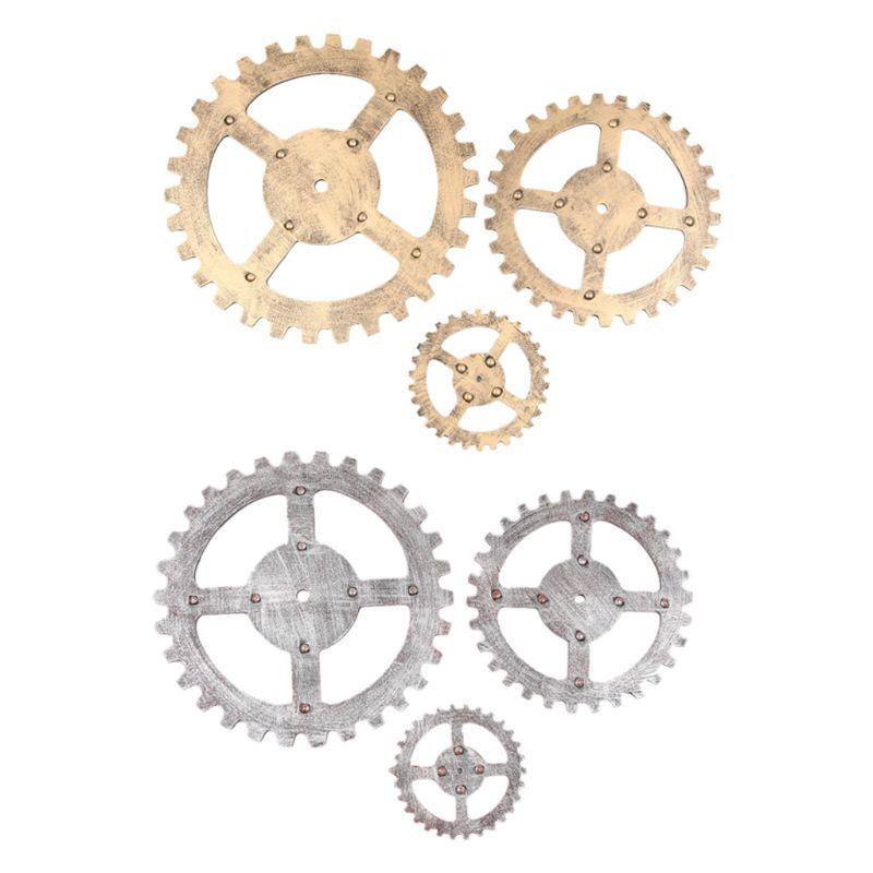 New Gear Wheel Home Barornament Wooden Steampunk Bedroom Vintage Wall Decoration