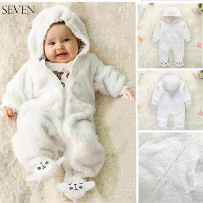 Baby Jumpsuit Infant Bodysuit Toddler Long Sleeve Cotton Keep Warm Romper Boys Girls Heart Cartoon Hooded Outfitss