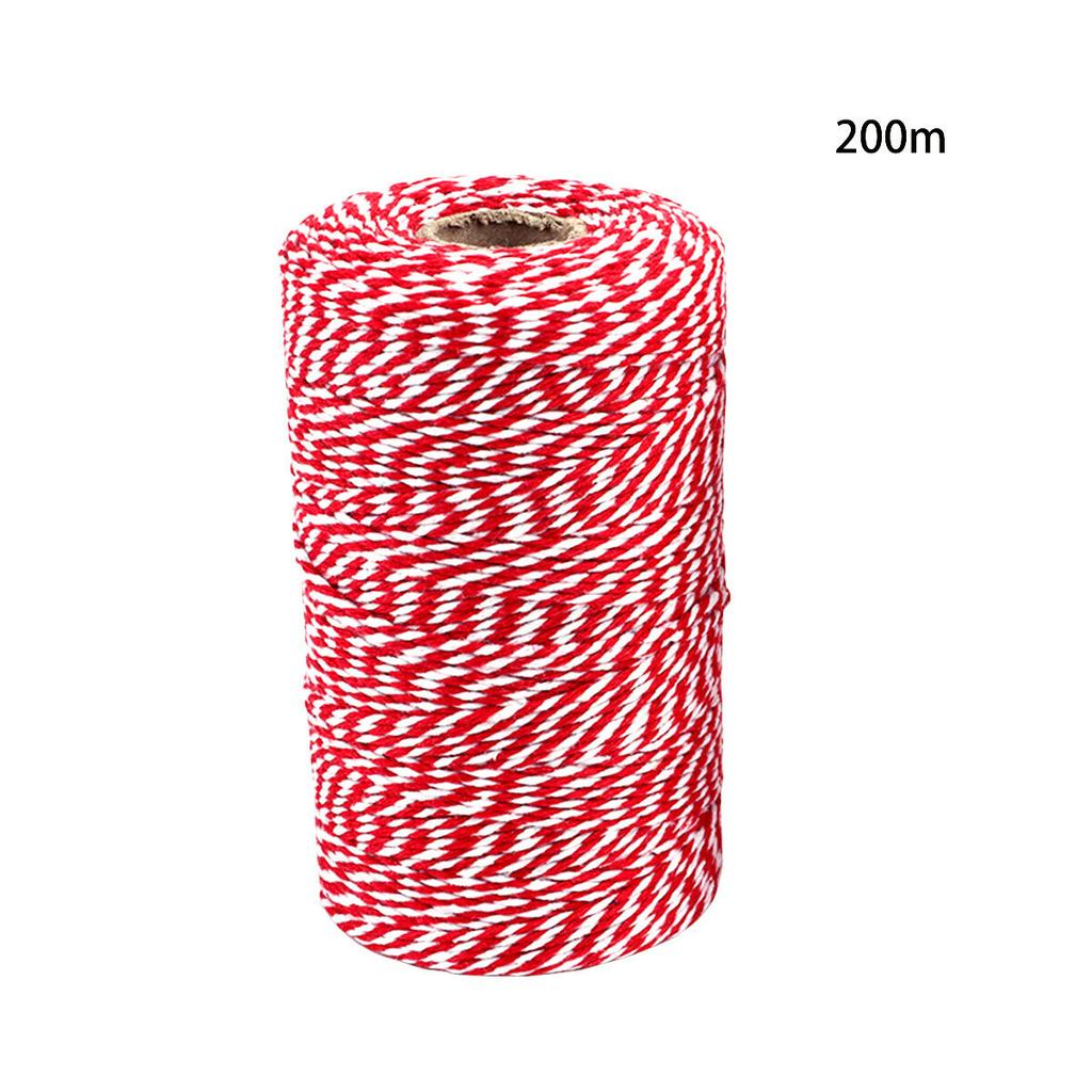 Christmas Gift Wrapping Jute Cotton String Rope Baker Twine Red, Green, Natural Set of 3