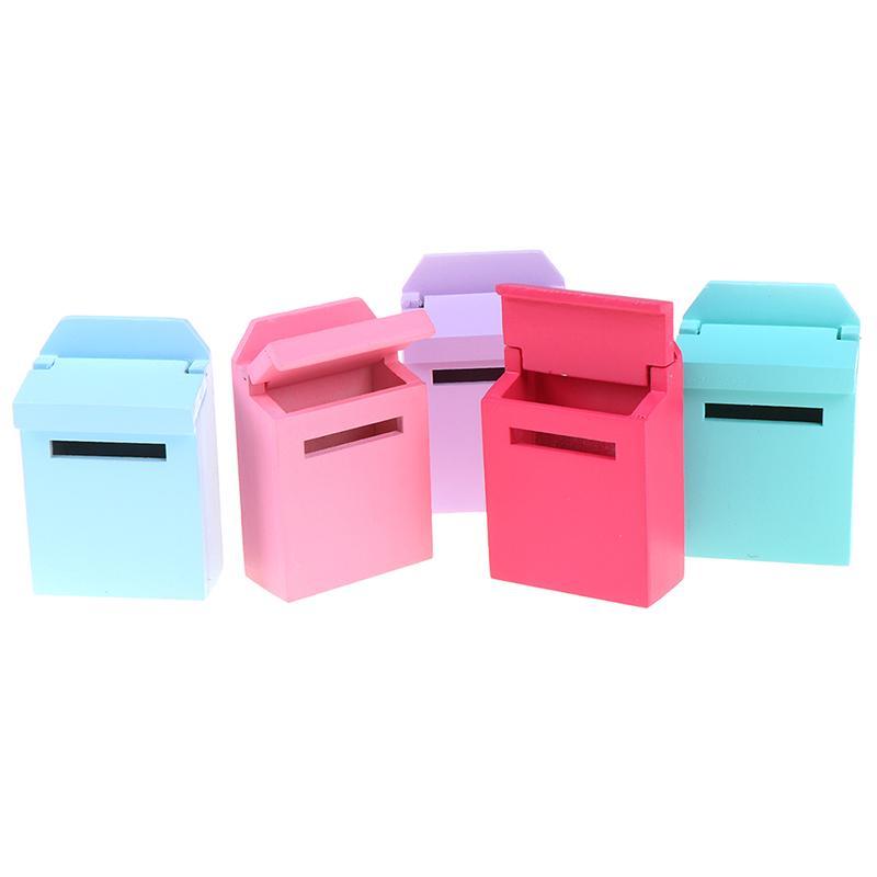 1//12 Dollhouse Miniature Mini Wooden Mailbox Furniture Model Toy Pq