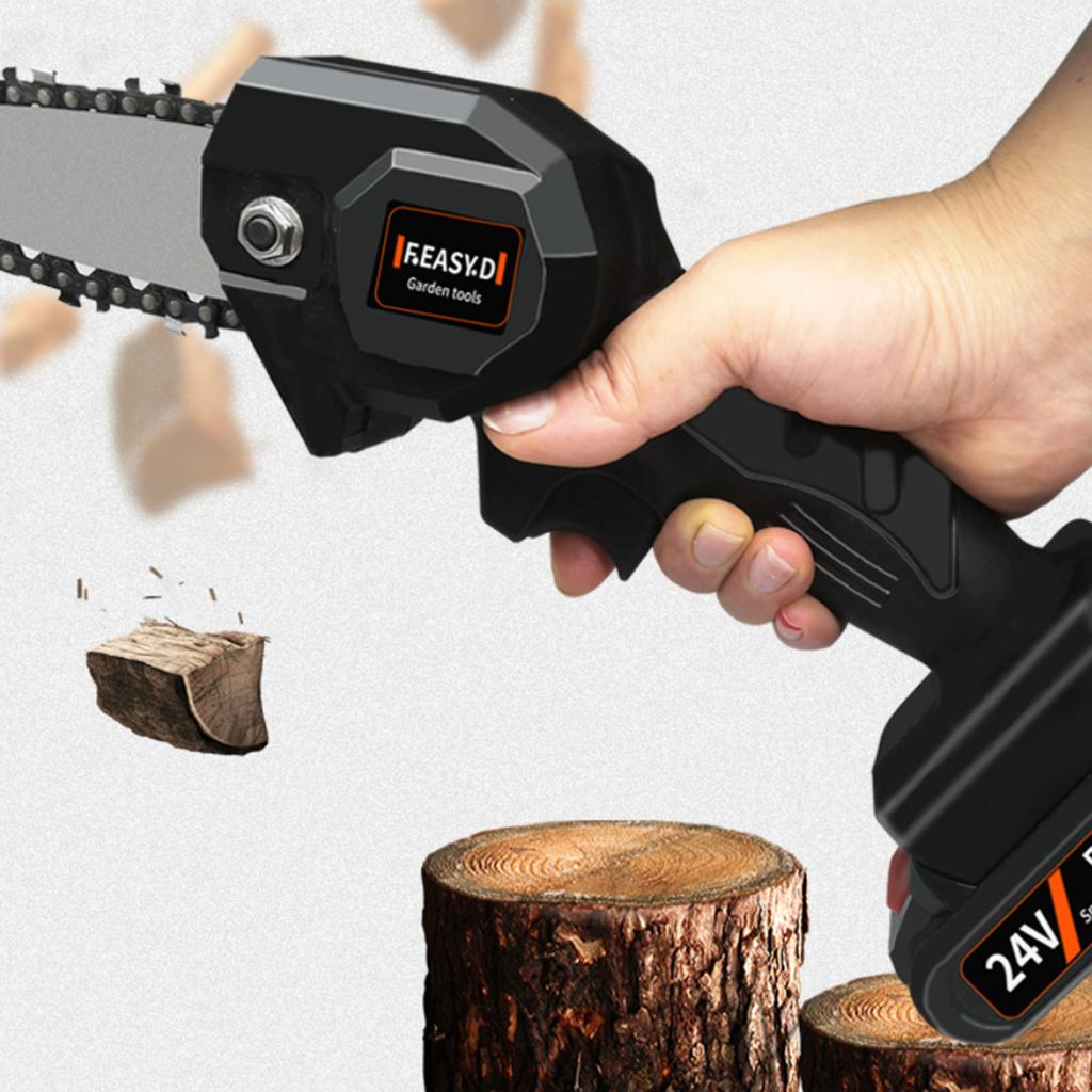 Details about  /550W 24v Mini One Hand Saw Woodworking Electric Chain Wood Cutter Cordless NEW