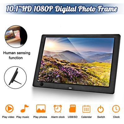 Yuybei Digital Picture Frames Ultra-Thin Narrow Side 17 Inch Digital Photo Frame 1440900 Pixels High Resolution LED Screen 1080P HD Video Playback Auto On//Off Timer Remote Control Included