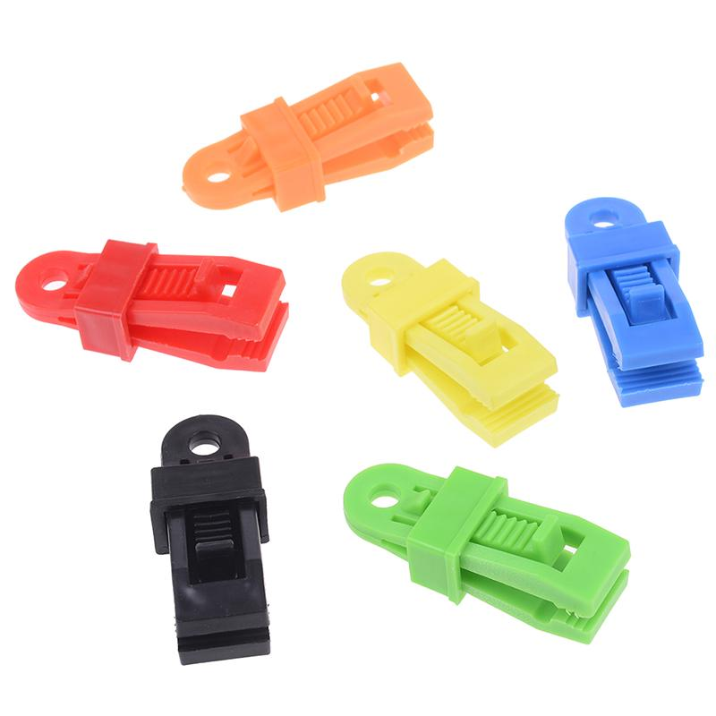 5pcs//set Tent Awning Wind Rope Clamp Outdoor Camping Plastic Clip Accessory Tool