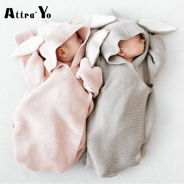 Baby Neugeborenes Schlafsack Strick Häkel Wrap Swaddling Häkel Kinderwagen