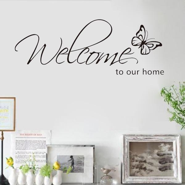 Home Decor House Living Area House Warming Bedroom Welcome Family Entry Hall Nursery Vinyl Decal Wall Art Decor Sticker XOXO