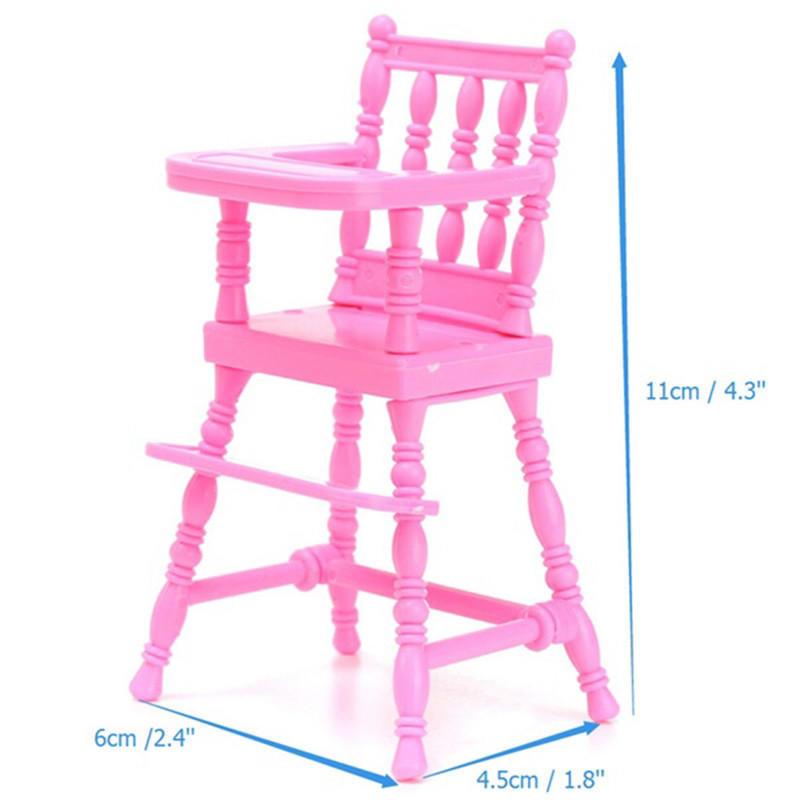 Alta silla del bebé vivero 1/6 de color rosa para muebles de casa de ...