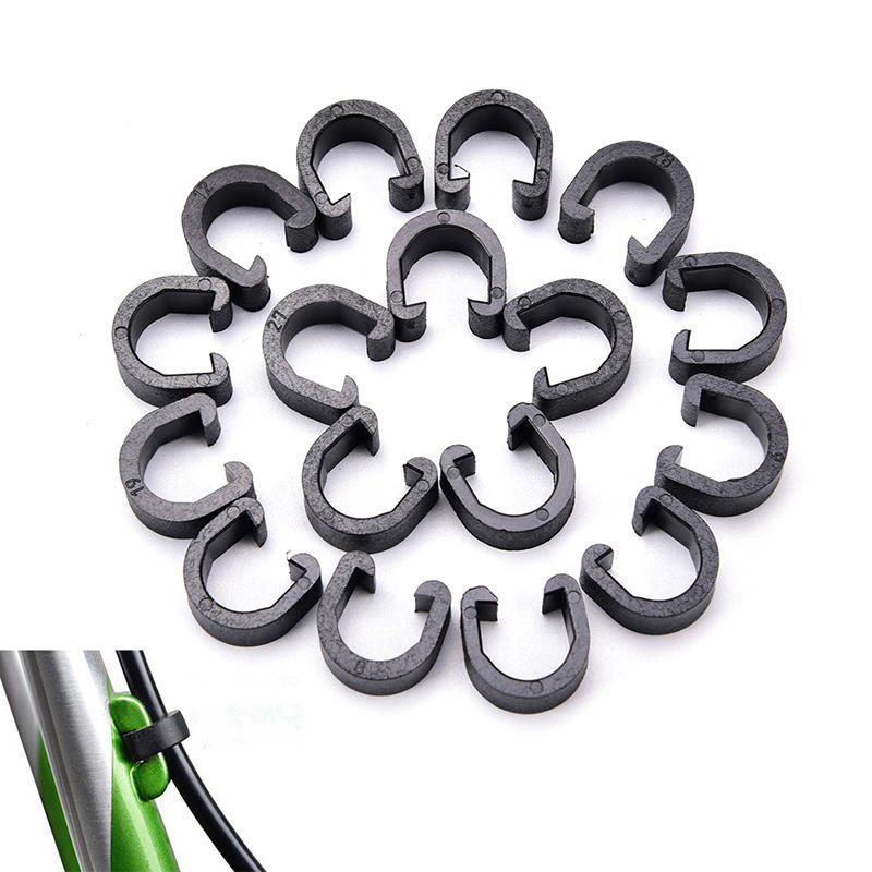 50PCS X MTB Bike Cycling Brake Gear Cable Housing C Clips Clamp Hose Guide  HI