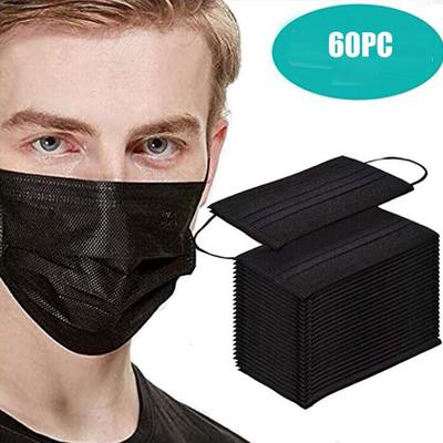 Face Mask Proof Protect Face Mouth Cover Outdoor Youre Too Close 60 Pcs Black