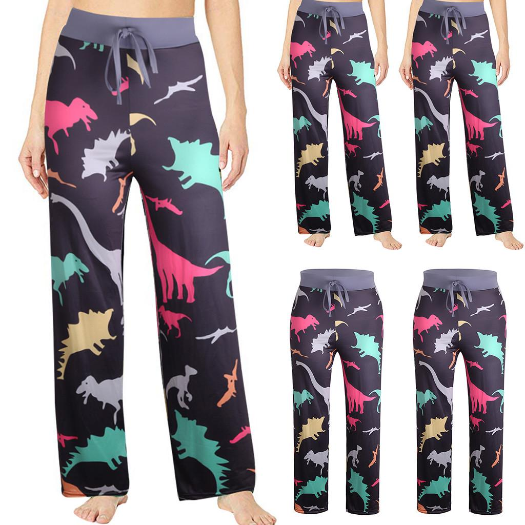 Womens High Waisted Pants Summer Printed Comfortable Casual Beach Pajama Pants Sport Yoga Trousers Teresamoon