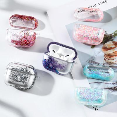 Liquid Quicksand Earphone Case For Apple Airpods Pro Case Glitter Sequins Headphone Cover Air Pods 3