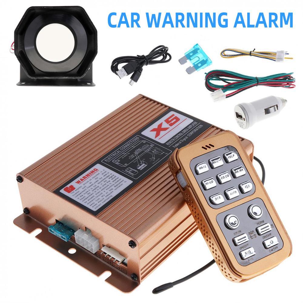 400W 8 Sound Autos Police Fire Warn Siren Horn Speaker Wireless Amplifier System