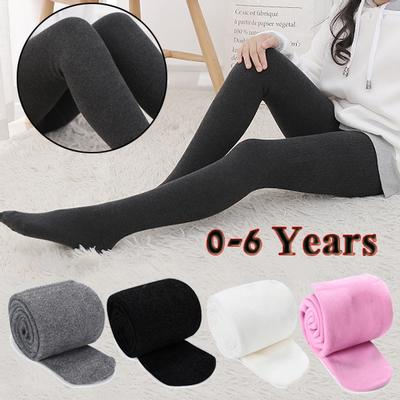 New Fashion 0-6 Years Old Kids Girls Pantyhose Stocking Toddler Baby Solid Color Knitted Cotton Warm Soft Tights Hosiery Socks