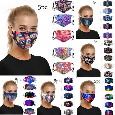 LL 5pc Mouth Masks for Dust Protection Anti Face Mask Washable Earloop Mask