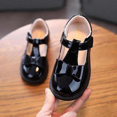 Children's Leather Shoes Fashion Solid Color Flats Spring Footwears For Girls Kids  Summer Princess Party Shoes
