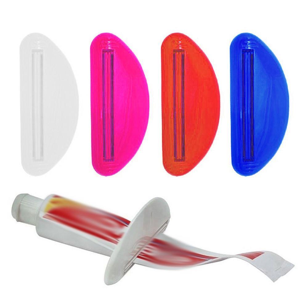 Случайный цвет пластиковой трубки соковыжималка зубная паста распределитель держатель прокатки ванной экстракт фото