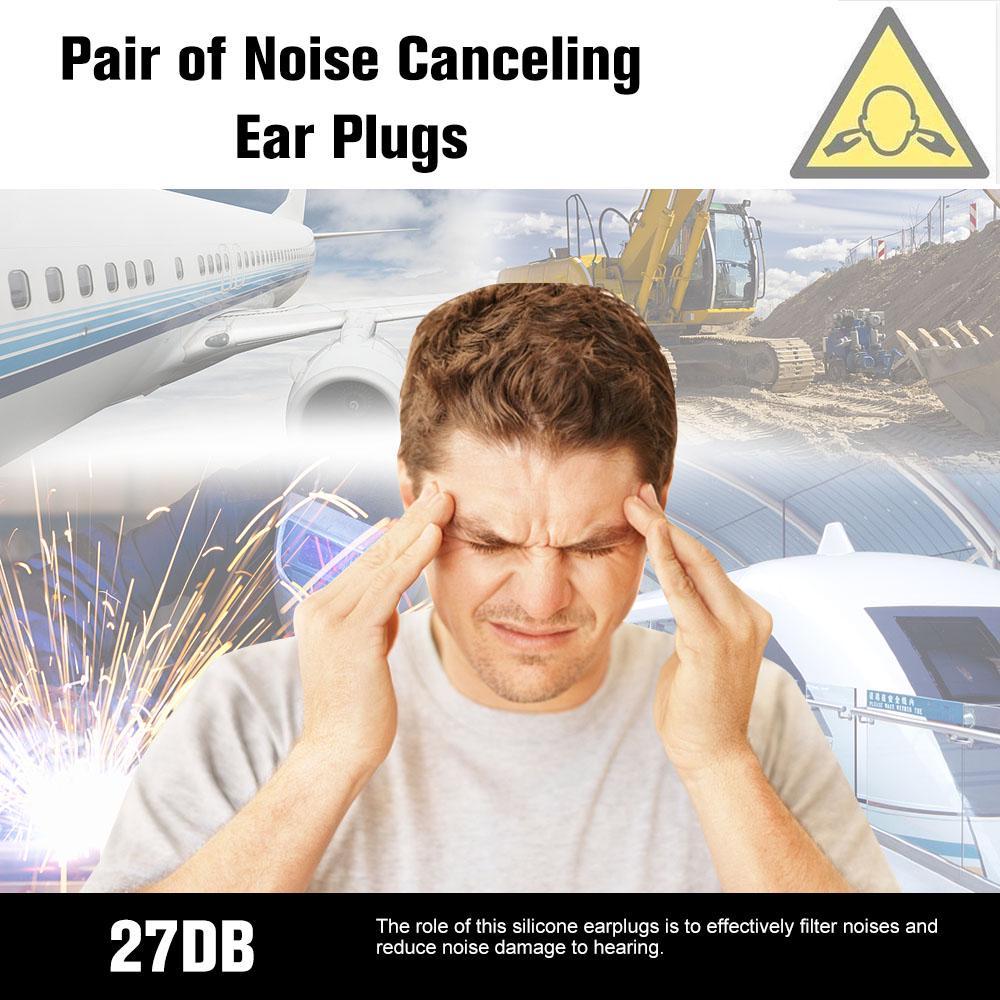 4Pcs Silica Gel Ear Plugs Earplugs Covert Acoustic Tube Earpiece Headset